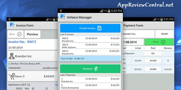 Simple Invoice Manager Android AppApp Review Central - Invoice software for android