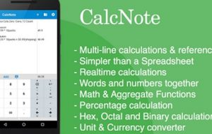 CalcNote – Notepad Calculator [Android App]