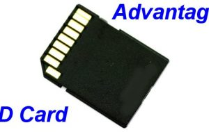 Advantages of using a SD card