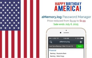 aMemoryJog Password Manager [July 4 Sale]